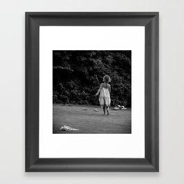 In Her Own Little World Framed Art Print