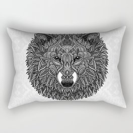 Gray Wolf Rectangular Pillow