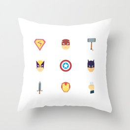Time To Fight Crime Throw Pillow