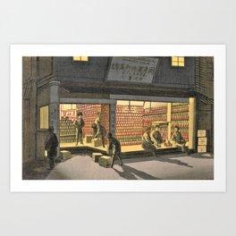 Inoue Yasuji - Ginza Store Night View Art Print