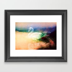 Forest Nature Animals - Wild Swan Lake Framed Art Print