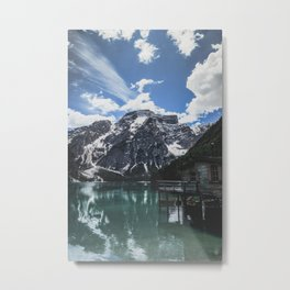 A magnificent morning at an Italian lake in the Dolomites. Metal Print