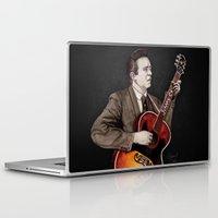 johnny cash Laptop & iPad Skins featuring Johnny Cash by Daniel Cash