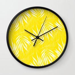 Ash Tree Leaves Scandianvian Pattern Wall Clock