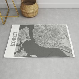 Lisbon Pencil City Map Rug