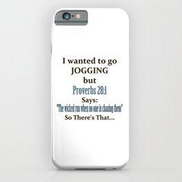 Jogging Humor iPhone Case