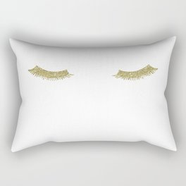 Gold Glam Eyelashes Rectangular Pillow