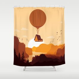 Flying House Shower Curtain