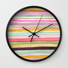 Colorful Stripes One Wall Clock