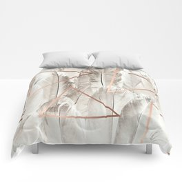 Feathers & Copper #society6 #decor #buyart Comforters