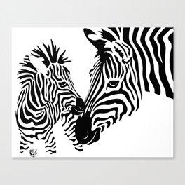 Love Stripes Canvas Print