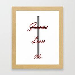 Jesus loves me by EmiliePP Framed Art Print