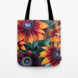 Orange Daisies Tote Bag