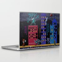 kaiju Laptop & iPad Skins featuring Kaiju Rampage by 84Nerd