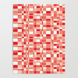Mod Gingham - Red Poster