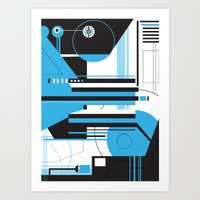geo Art Prints featuring Geo. by 2EQUALS
