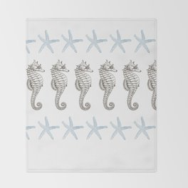 Starfish & Seahorses Throw Blanket