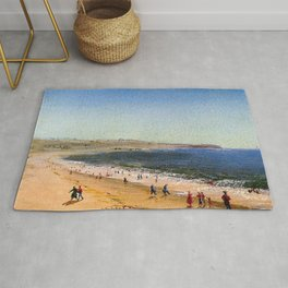 Easton's Beach, Newport, Rhode Island by Charles De Wolf Brownell Rug
