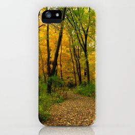 Golden Maple Forest iPhone Case
