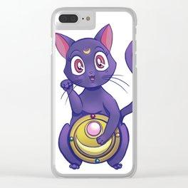 Luna maneki neko Clear iPhone Case
