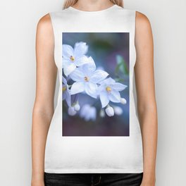 Jasmine Nightshade Flowers #3 #floral #art #society6 Biker Tank