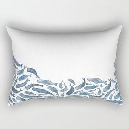 Whale Wave.  Rectangular Pillow