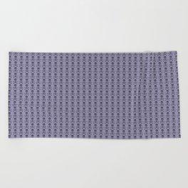 Black and Lavender Skulls Beach Towel