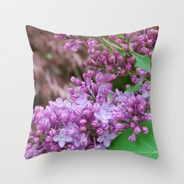 Purple Lilac Throw Pillow