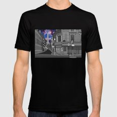 Paris: The Center of the Universe Mens Fitted Tee MEDIUM Black