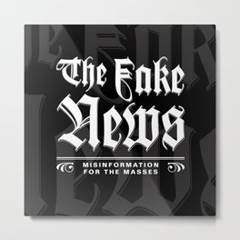 The Fake News Header Metal Print