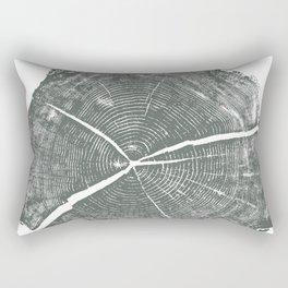 Locust Tree ring image, woodcut print Rectangular Pillow