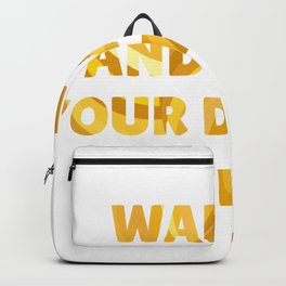 Wake Up and Make Your Dreams Come True in Impressionist Bold Gold Backpack