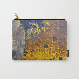 Abstractions in Brown, Yellow and Black Carry-All Pouch