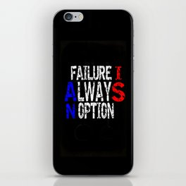 WORDSEARCH LOVE-Failure Is Always An  Option iPhone Skin