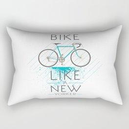 Bike like a new yorker Rectangular Pillow