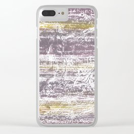 Yellow Gray colored wash drawing Clear iPhone Case