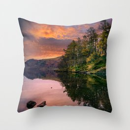 By the Lake Side Throw Pillow