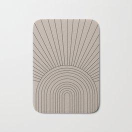 Boho Minimalistic Art Bath Mat