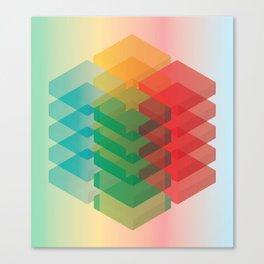 Color Cubes Canvas Print