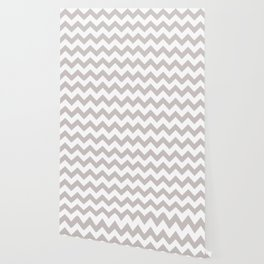 LIGHT GREY AND WHITE CHEVRON PATTERN  Wallpaper