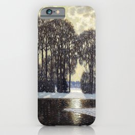 Winter by Vilhelms Purvītis - Latvian Lettish Fine Art - Purvitis iPhone Case