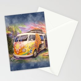 Hippie Surfer Life Stationery Cards