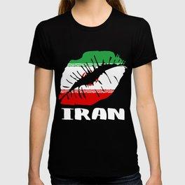 IRN Iran Kiss Lips Tee T-shirt