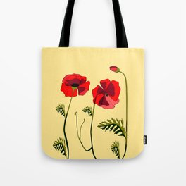 Adorable Red Poppies Unfold Tote Bag