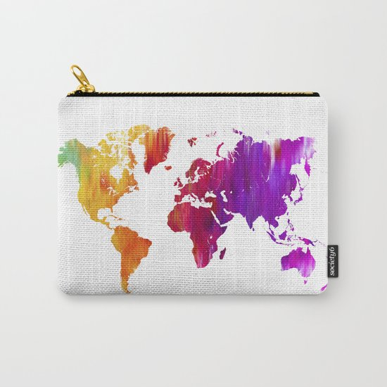 World filled with COLOR ! Carry-All Pouch