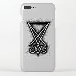Sigil Of Lucifer Clear iPhone Case