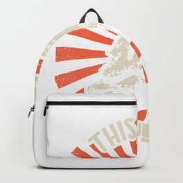 This Is My Happy Face Bearded Dragon Pogona Reptile Image T-Shirt Backpack