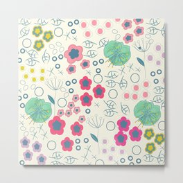 Summer flowers abstract illustration background Metal Print