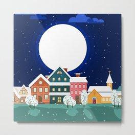 Town Moon Metal Print