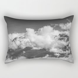 Volcano Chachani in Arequipa Peru Covered by Clouds Rectangular Pillow